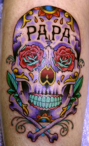 Tattoos - Canman - neo traditional sugar skull